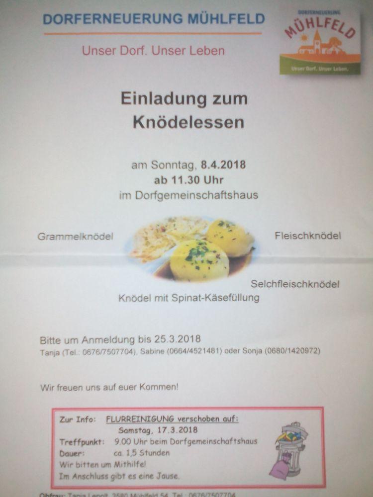 Knödel Essen in Mühlfeld